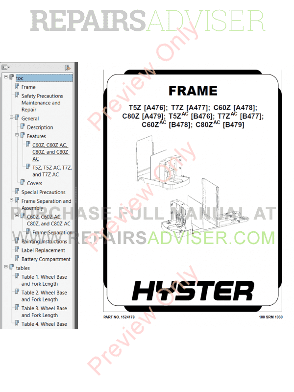 Hyster Class 3 For B476 Electric Motor Hand Trucks PDF