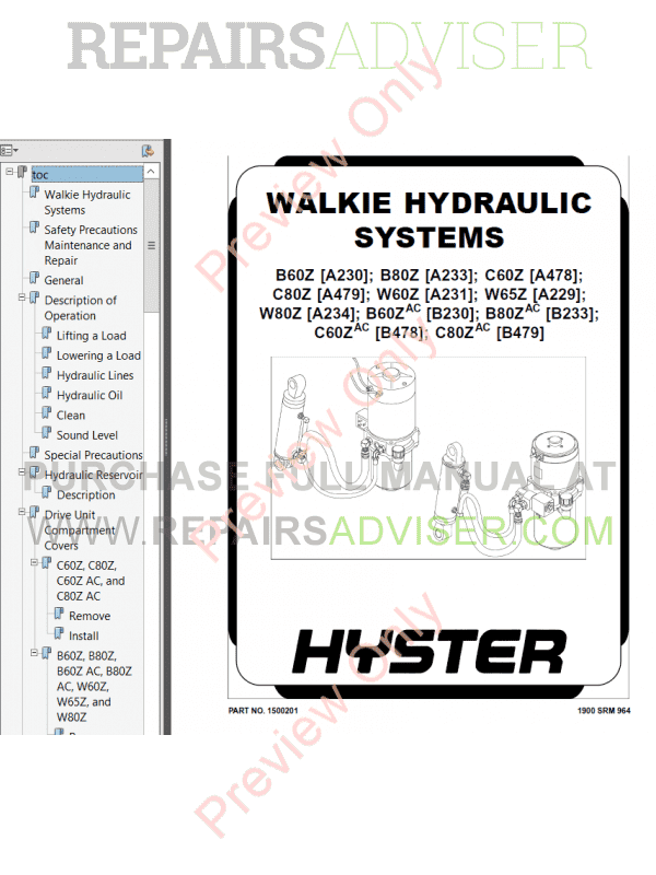 Hyster Class 3 For B478 Electric Motor Hand Trucks PDF