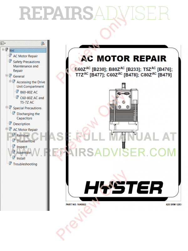 Hyster Class 3 For B479 Electric Motor Hand Trucks PDF