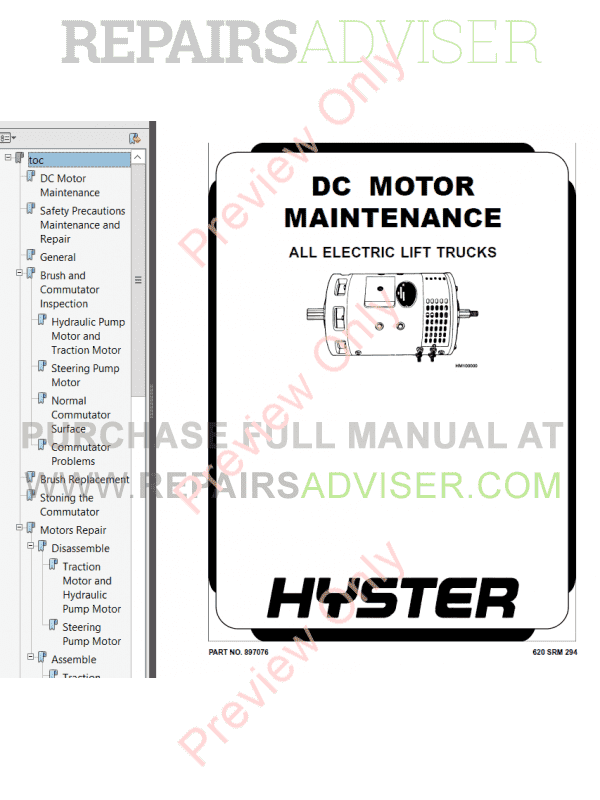 Hyster Class 3 For B495 Electric Motor Hand Trucks PDF