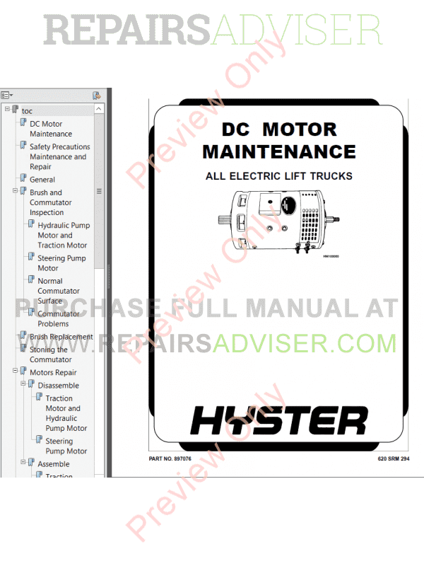 Hyster Class 3 For E142 Electric Motor Hand Trucks PDF