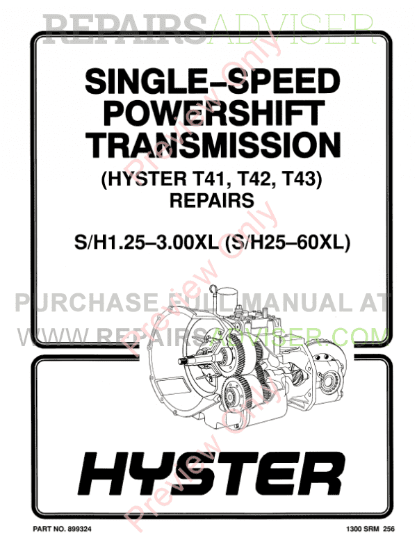 Hyster Class 4 A187 Internal Combustion Engine Trucks PDF