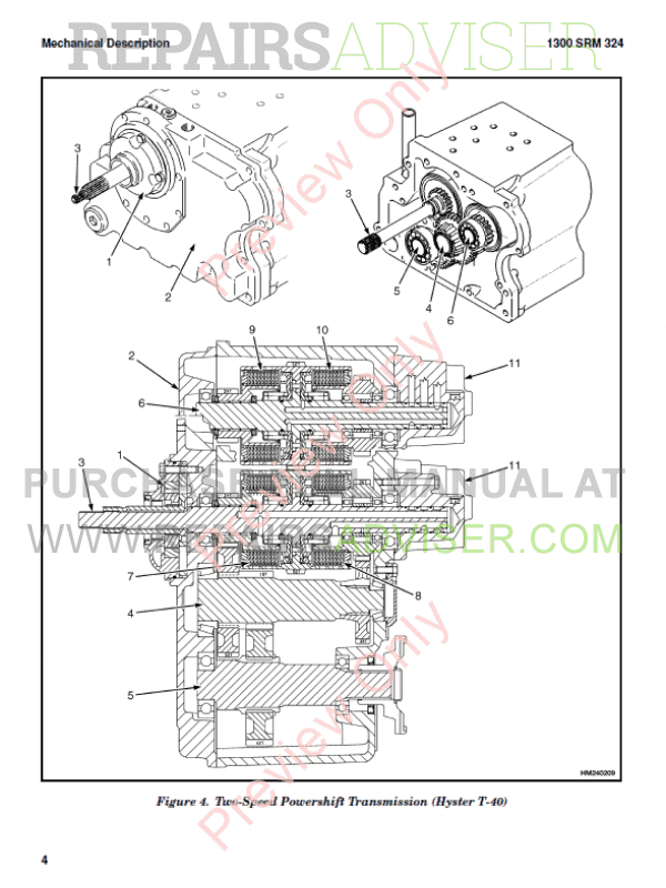 Hyster Class 4 For B024 Internal Combustion Engine Trucks