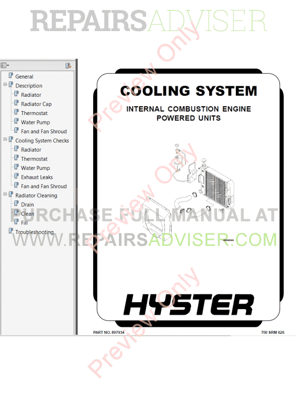 Hyster Class 4 For C004 Internal Combustion Engine Trucks