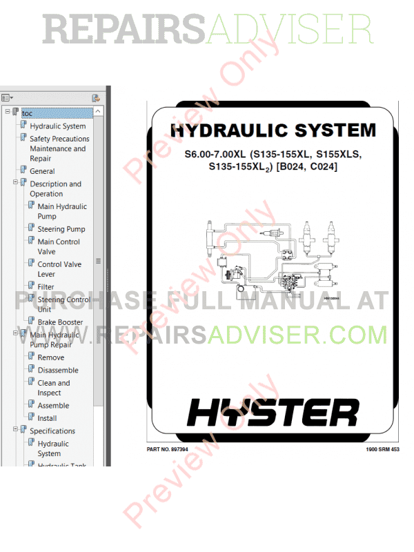 Hyster Class 4 For C024 Europe Internal Combustion Engine