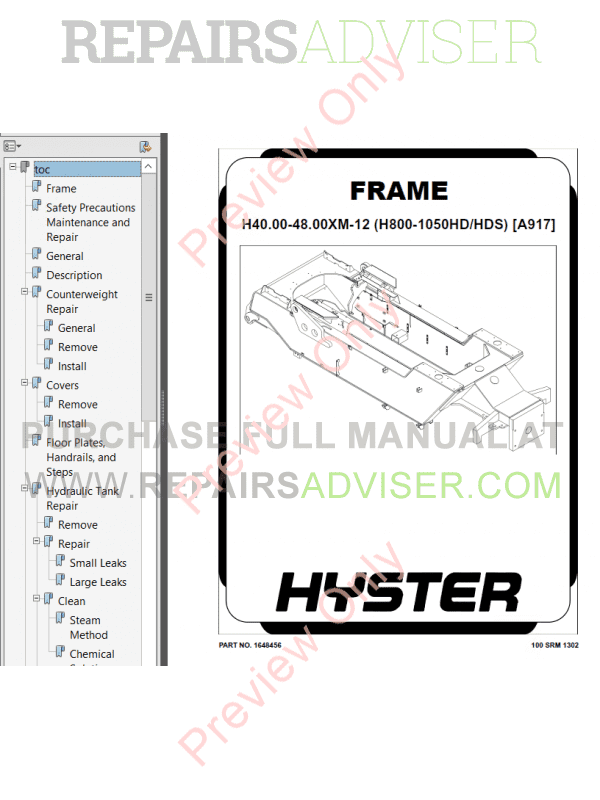 Hyster Class 5 For A917 (H40/H44/H48.00XM-12 Europe