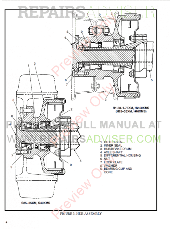 Hyster Class 5 For D001 Internal Combustion Engine Trucks