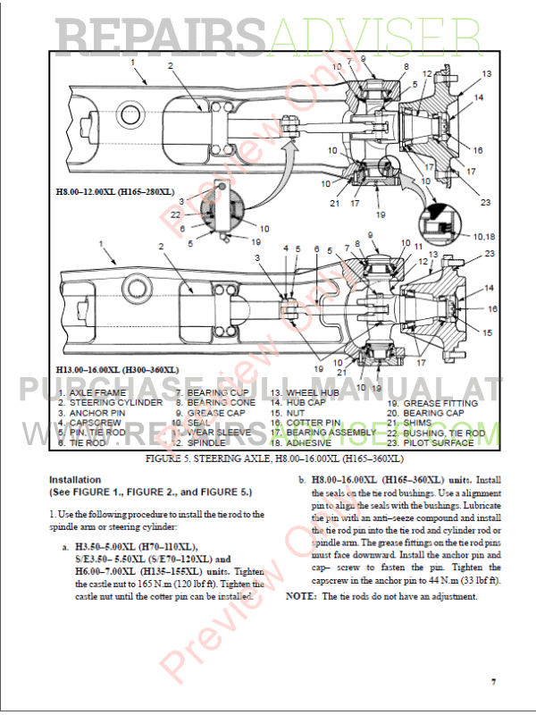 Hyster Class 5 For F005 Europe Internal Combustion Engine