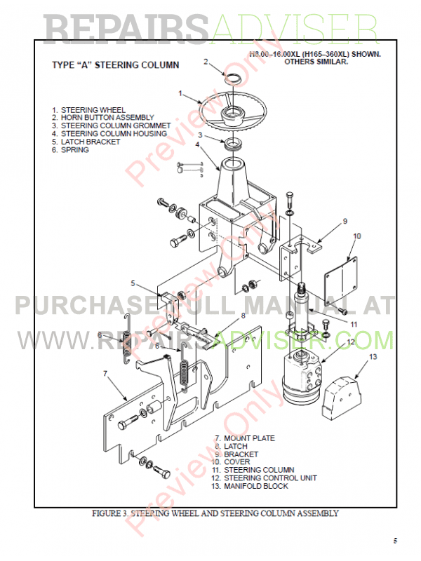 Hyster Class 5 For F005 Internal Combustion Engine Trucks