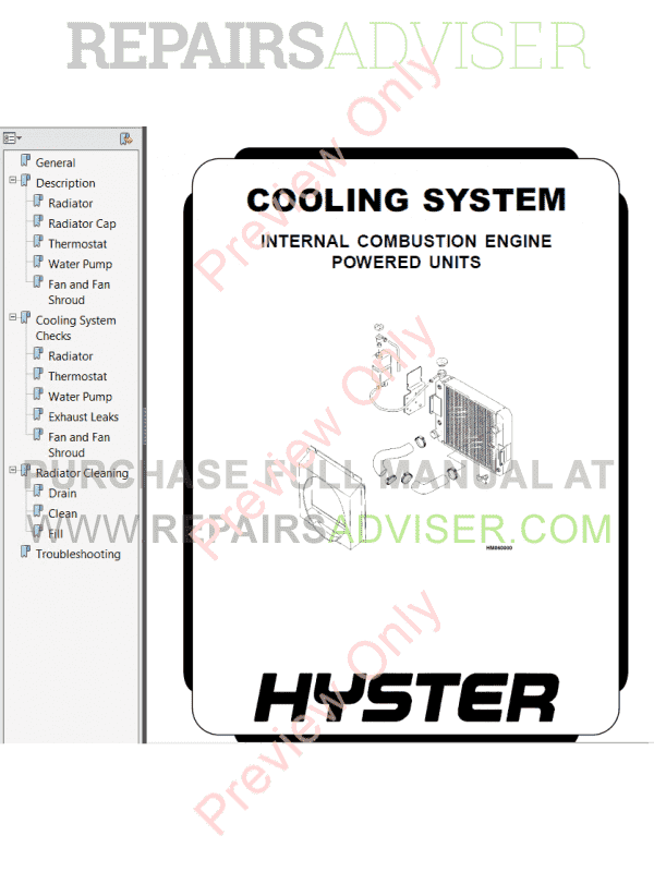 Hyster Class 5 For F006 Europe Internal Combustion Engine