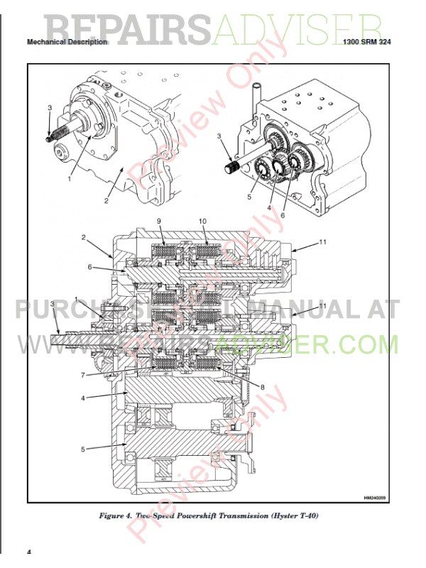 Hyster Class 5 For F006 Internal Combustion Engine Trucks