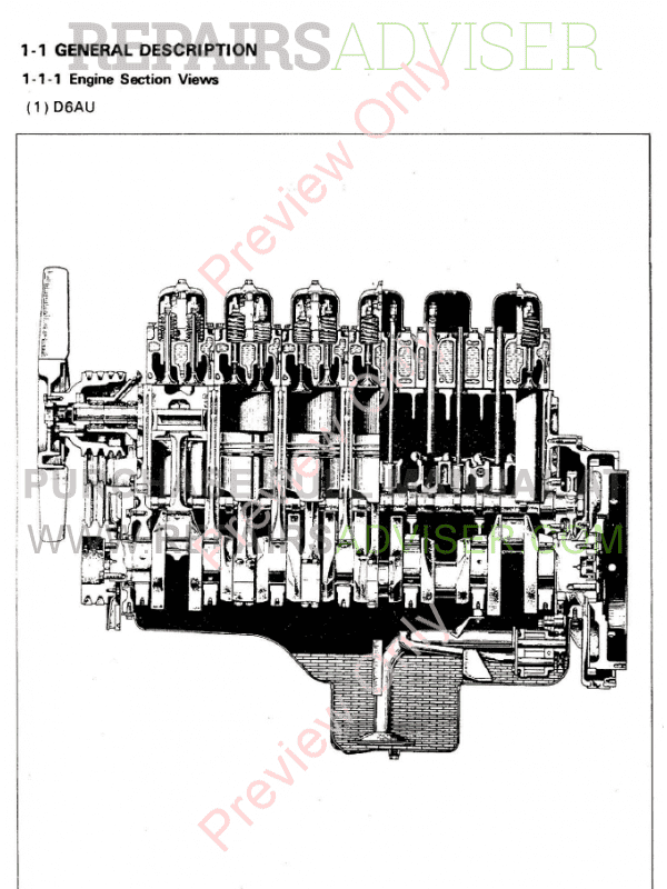 Hyundai D6A Series Diesel Engine Shop Manual PDF Download