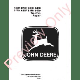 John Deere Tractors 8130, 8230, 8330, 8430, 8530 Repair TM