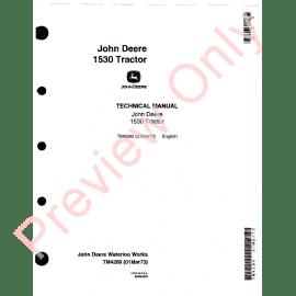 John Deere 100 Series Tractors Technical Manual TM-2328