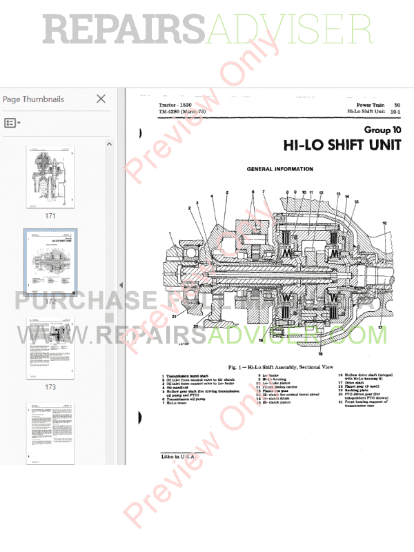 John Deere 1530 Tractor PDF Technical Manual 4280