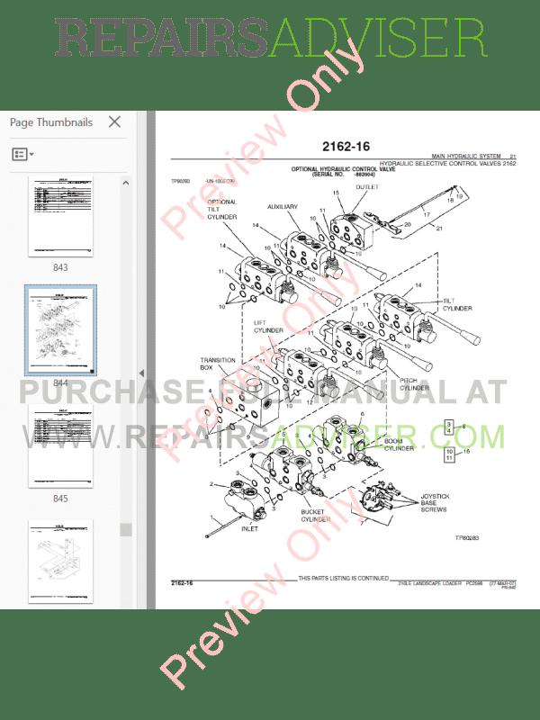 John Deere Landscape Loader 210LE Parts Catalog