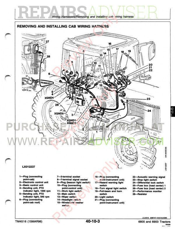 John Deere 6800 & 6900 Tractor Technical Manual TM-4516