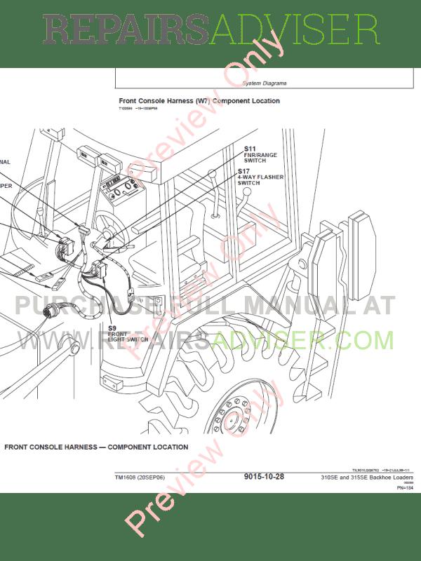 John Deere 310SE and 315SE Backhoe Loaders Technical