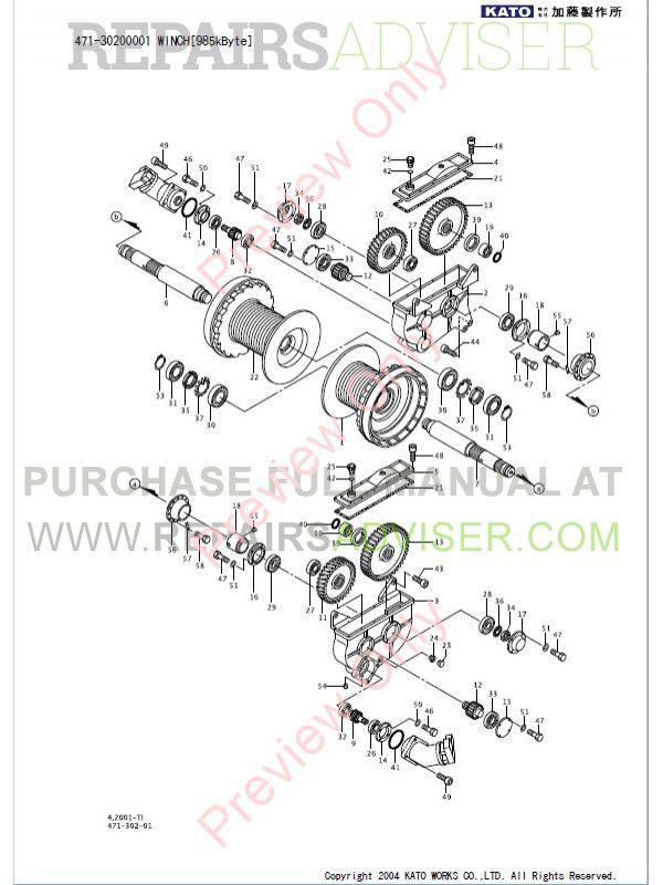 Kato SL-600 (KR-50H-L) Rough Terrain Crane Parts Catalogs