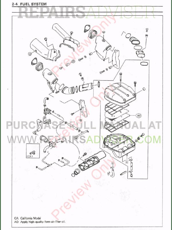Kawasaki Ninja ZX-7RR/ZX-7R Motorcycle Service Manual PDF