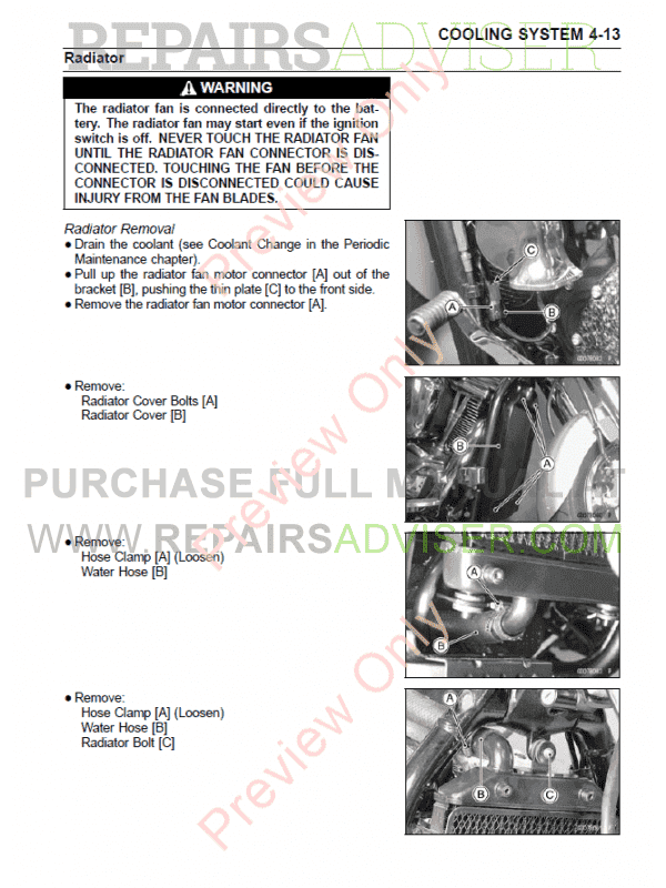Kawasaki Vulcan/VN 2000 Series Motorcycles Service Manual