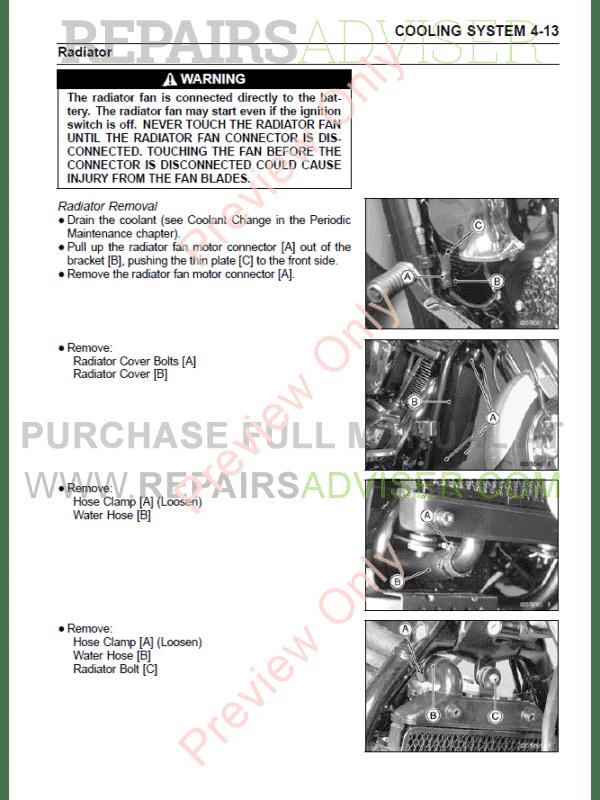 Kawasaki Vulcan/VN 2000 Series Motorcycles Service Manual