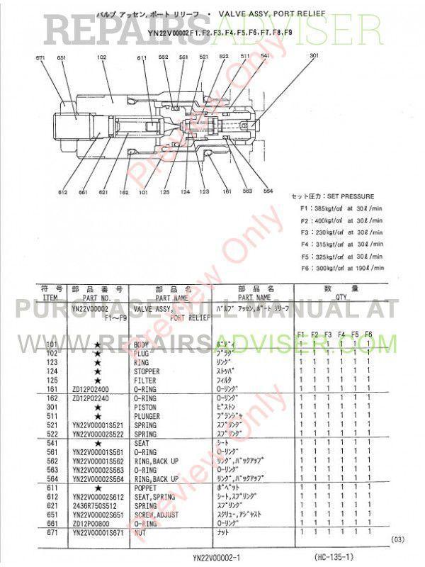 Kobelco SK320-6, SK320LC-6, SK330-6, SK330LC-6 Hydraulic