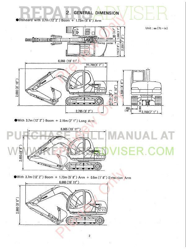 Kobelco SK60V Hydraulic Excavator Shop Manual PDF Download