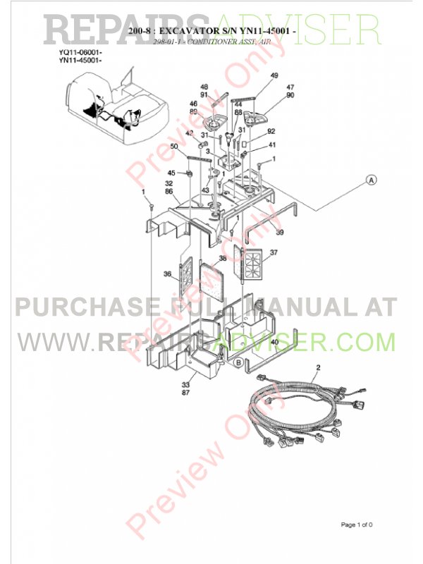 Kobelco SK200-8 Excavator Parts Manual PDF Download