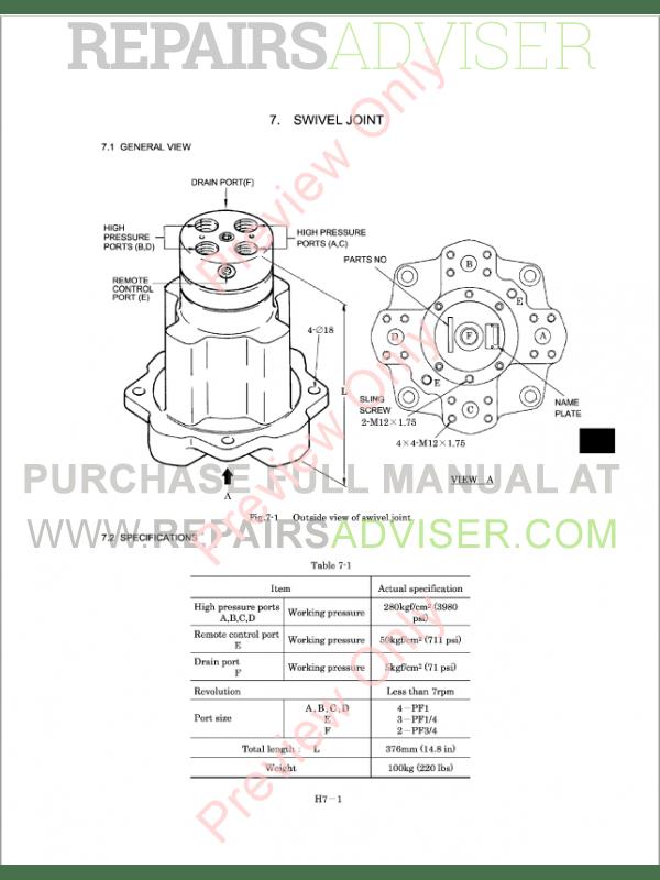 Kobelco SK480LC Hydraulic Excavator Shop Manual Download