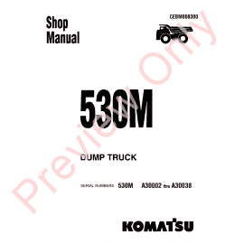 Komatsu JHPC145 Parts, Safety, Operation and Maintenance