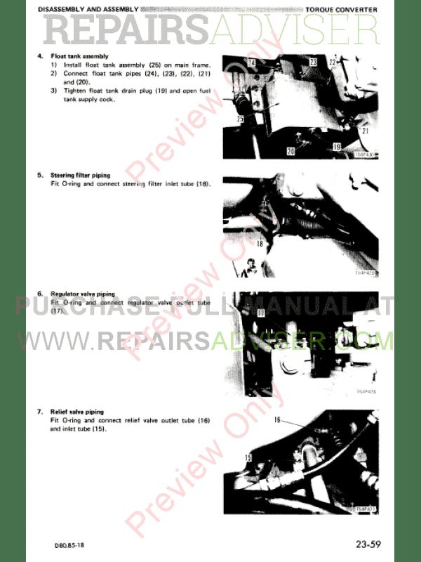 Komatsu Bulldozers D80A,E,P-18 & D85A,E,P-18 Shop Manual