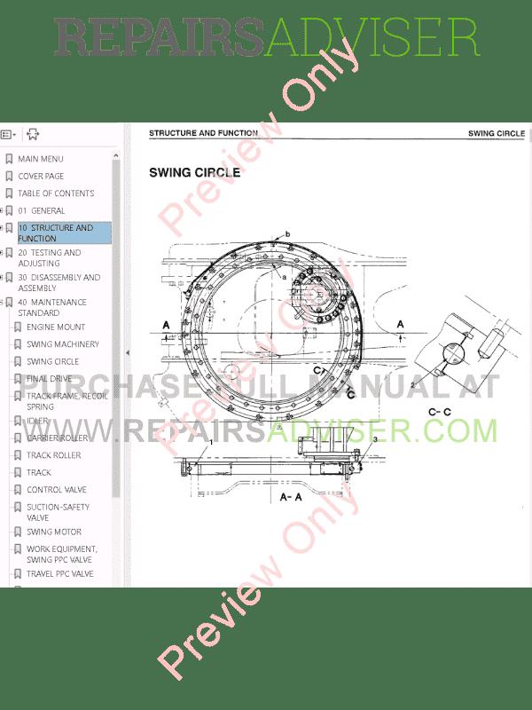 Komatsu CSS PC95-1-PC270LL-7, JBP100-JPB960 Set of PDF Manuals