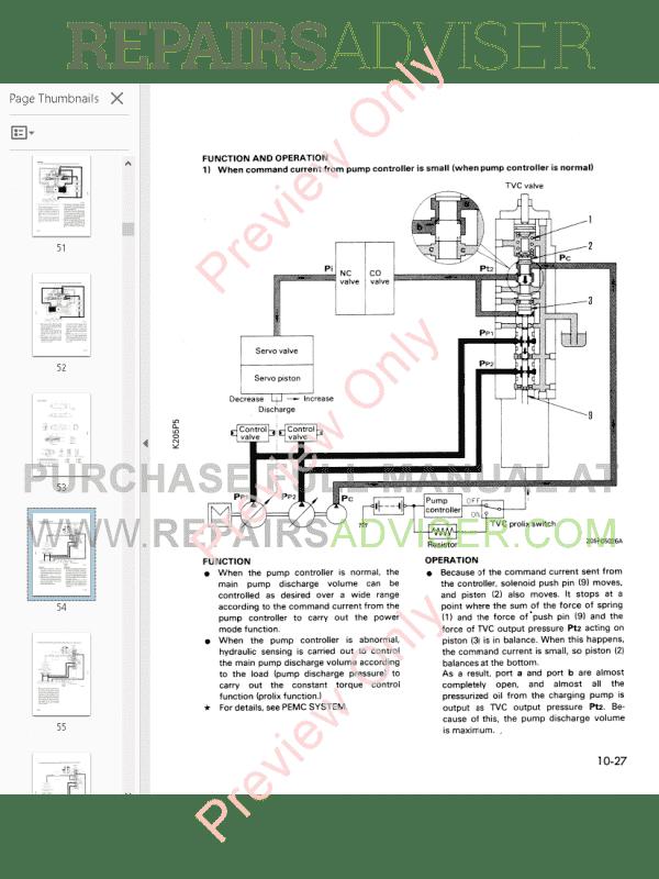 Komatsu Crawler Excavator PC210-5, PC240-5 PDF Shop Manual
