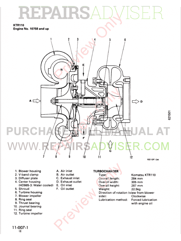 Komatsu Diesel Engine 12V140-1 Series Shop Manual PDF Download