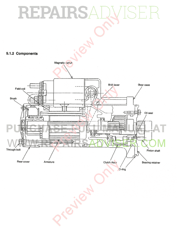 Komatsu Diesel Engine 4D98E, 4D106, S4D106 Shop Manual PDF