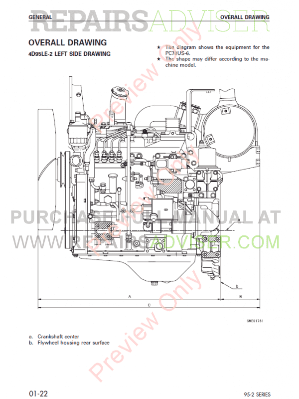 Komatsu Diesel Engine 95-2 series Shop Manual PDF Download