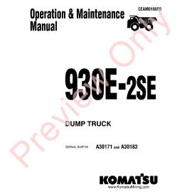 Komatsu Dump Truck 830E-AC Set of PDF Manuals Download