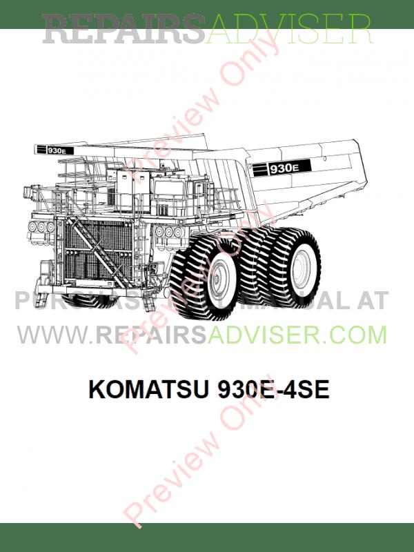 Komatsu Dump Truck 930E-4se Set of PDF Manuals Download