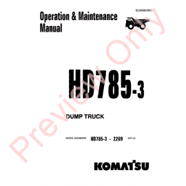Komatsu HD785-3 Dump Truck Set of PDF Manuals Download