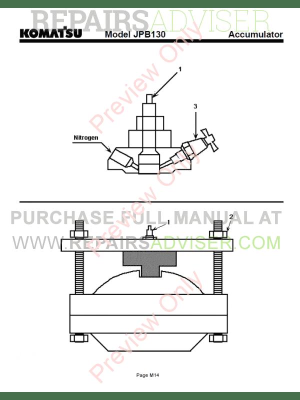 Komatsu Hydraulic Breaker JPB130 Operation and Maintenance