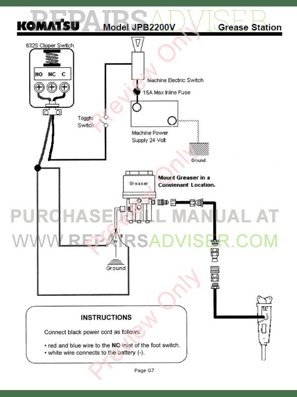 Komatsu Hydraulic Breaker JPB2200V Set of PDF Manuals Download