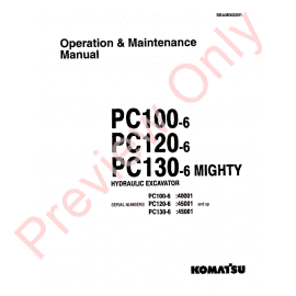 Komatsu Hydraulic Excavator PC120-6 Set of PDF Manual Download