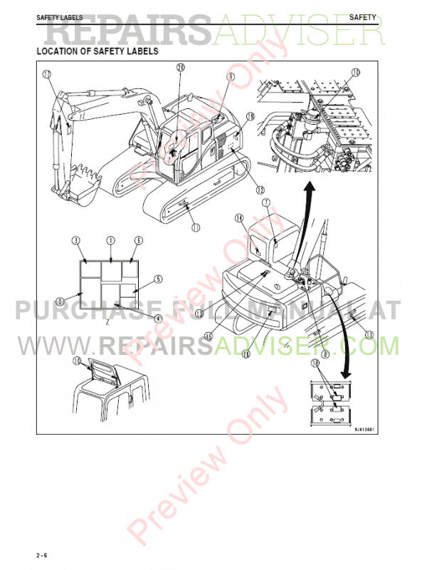 Komatsu Hydraulic Excavator PC130-8 Set of PDF Manuals