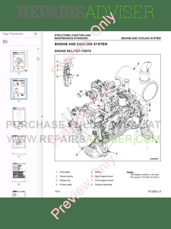 Komatsu Hydraulic Excavator PC200-210-220-8 Set PDF