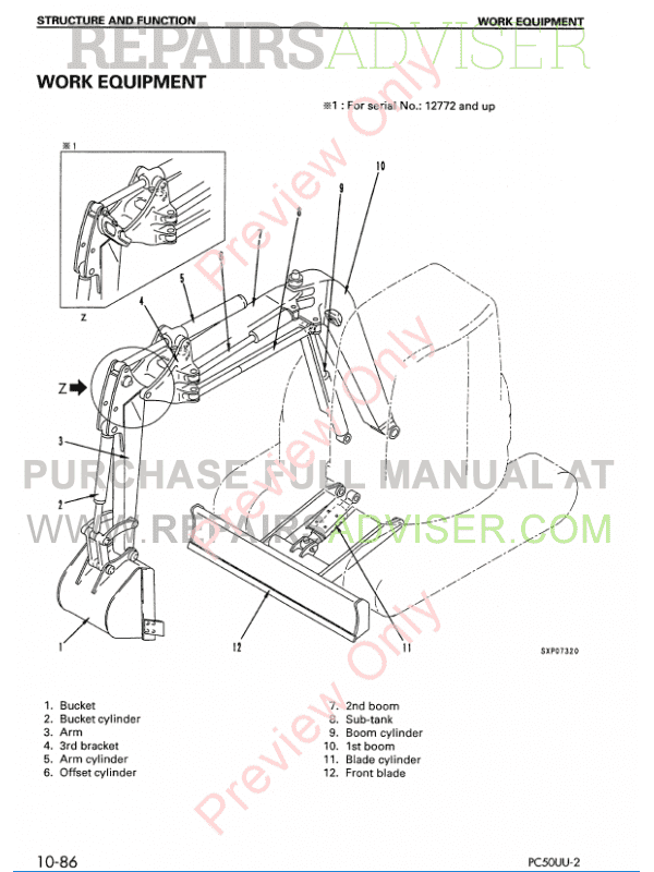 Komatsu Hydraulic Excavator PC50UU-2 PDF Shop Manual