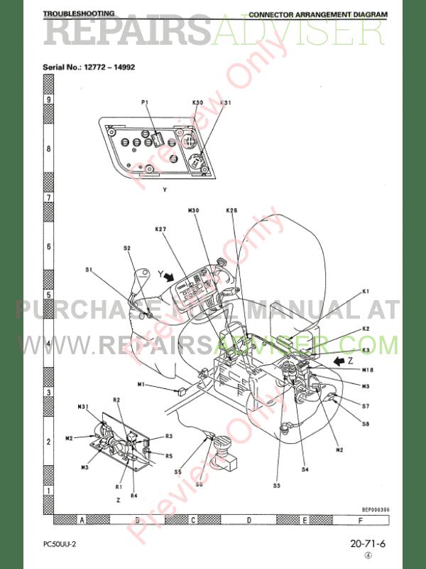 Komatsu Hydraulic Excavator PC50UU-2 PDF Shop Manual