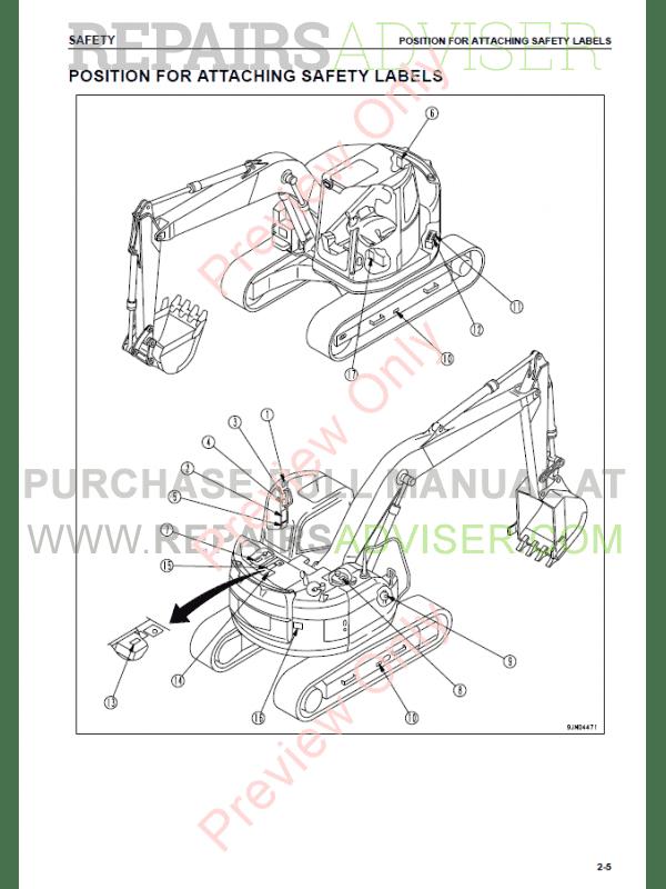 Komatsu Hydraulic Excavator PC158US-2 Set of PDF Manuals