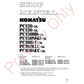 Komatsu PC78MR-6 Hydraulic Excavator Shop Manual PDF Download