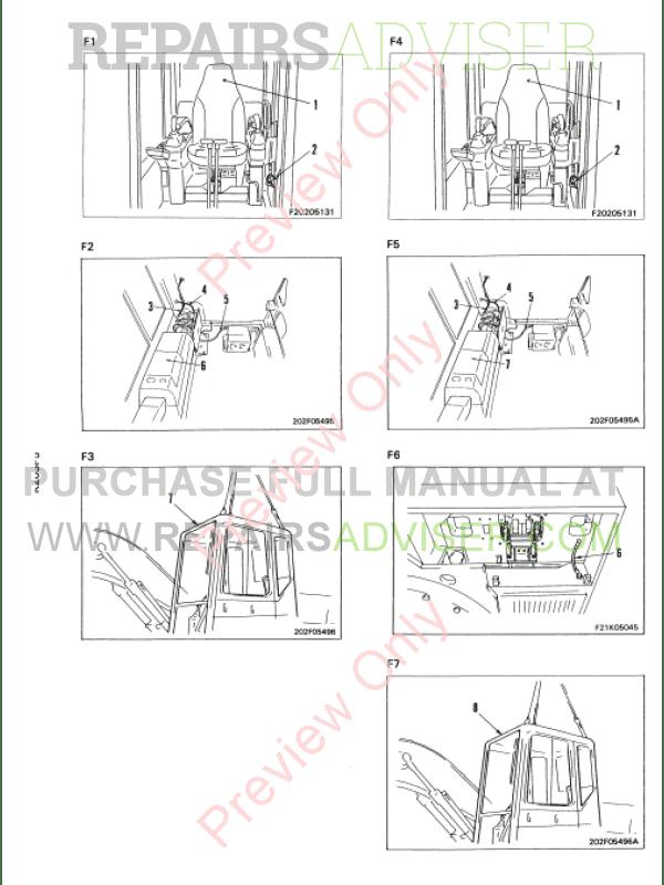 Komatsu PC120, PC130, PC150HD, PC150NHD, PC180LC, PC180LLC